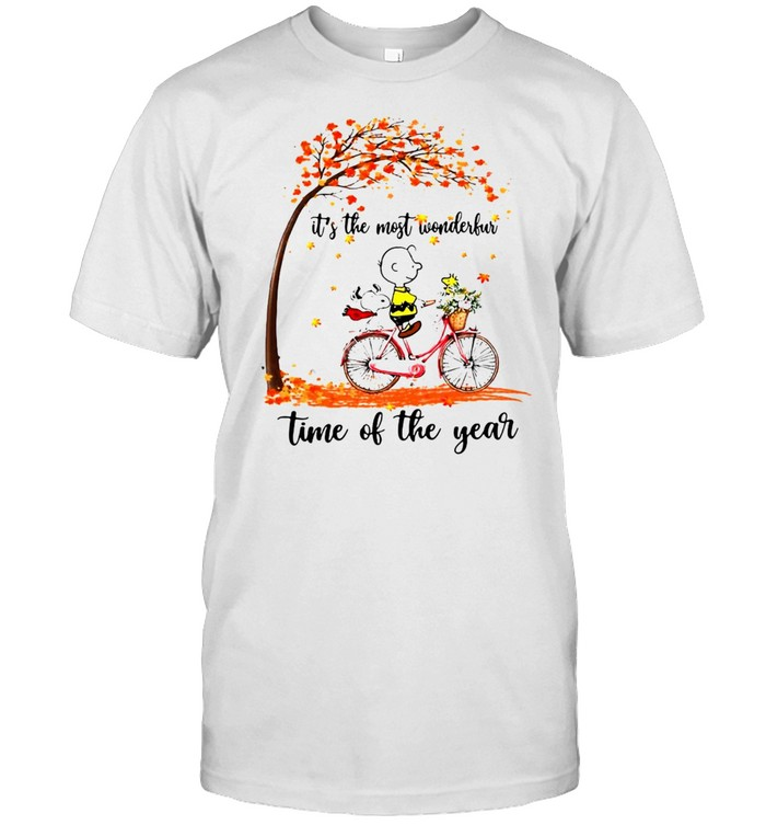 Snoopy And Peanuts It's The Most Wonderful Time Of The Year Shirt