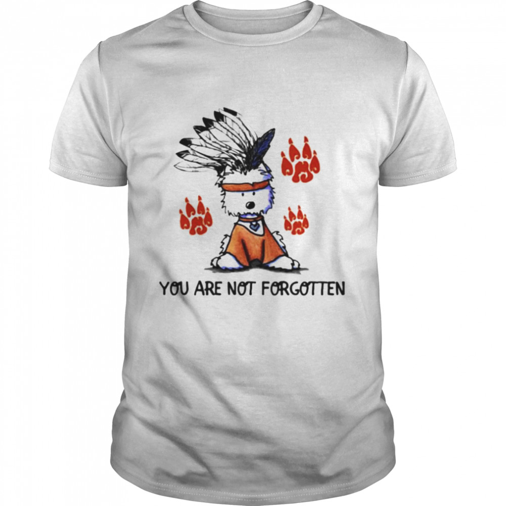 Dog Native American You Are Not Forgotten Shirt