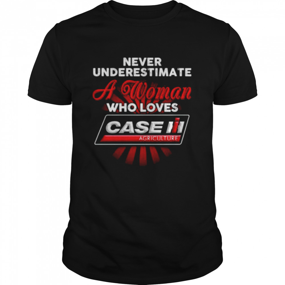 Never Underestimate A Woman Who Loves Case Agriculture Shirt