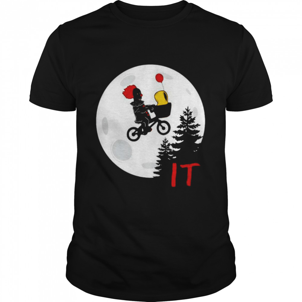Pennywise Bicycle Fly Halloween Moon Shirt