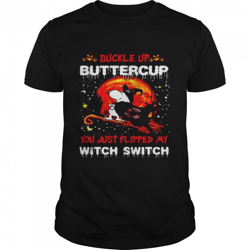 Snoopy Bears Buckle Up Buttercup You Just Flipped Halloween Shirt