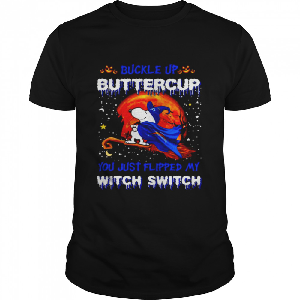 Snoopy Chargers Buckle Up Buttercup You Just Flipped Halloween Shirt