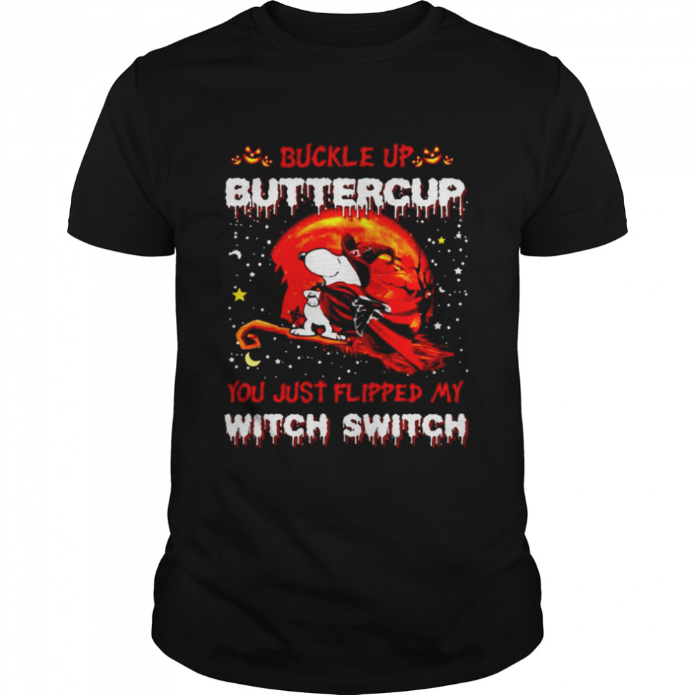 Snoopy Falcons Buckle Up Buttercup You Just Flipped Halloween Shirt