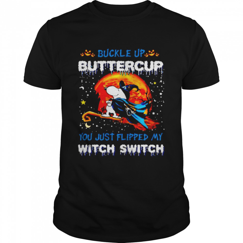 Snoopy Jaguars Buckle Up Buttercup You Just Flipped Halloween Shirt