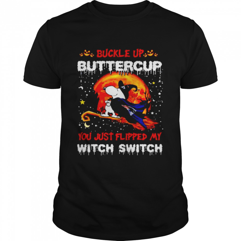 Snoopy Patriots Buckle Up Buttercup You Just Flipped Halloween Shirt