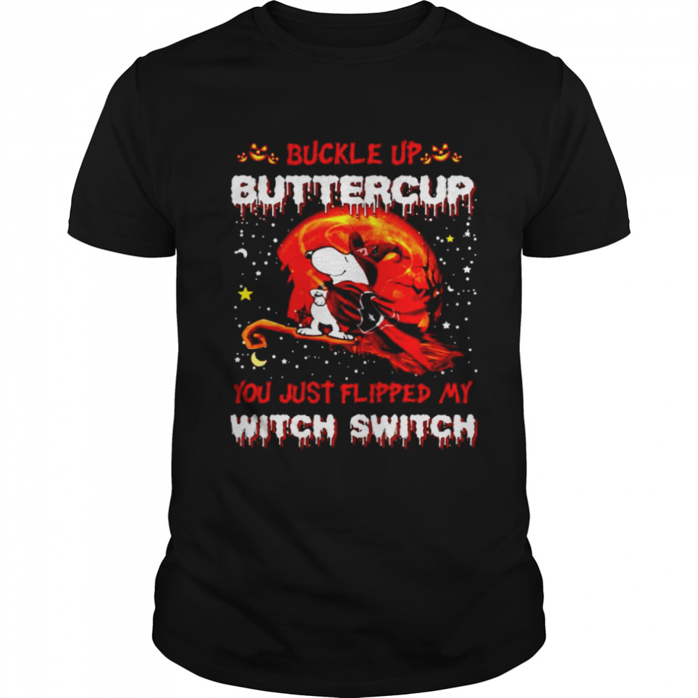 Snoopy Texans Buckle Up Buttercup You Just Flipped Halloween Shirt