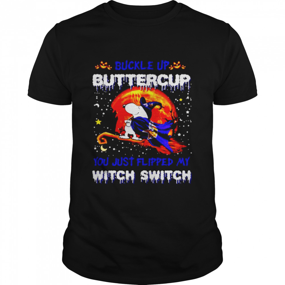 Snoopy Vikings Buckle Up Buttercup You Just Flipped Halloween Shirt