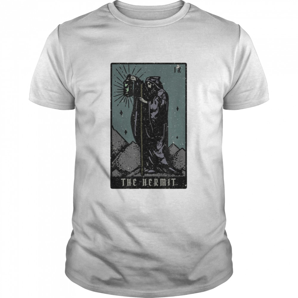The Hermit Tarot Card Reading Witch Aesthetic Halloween Shirt