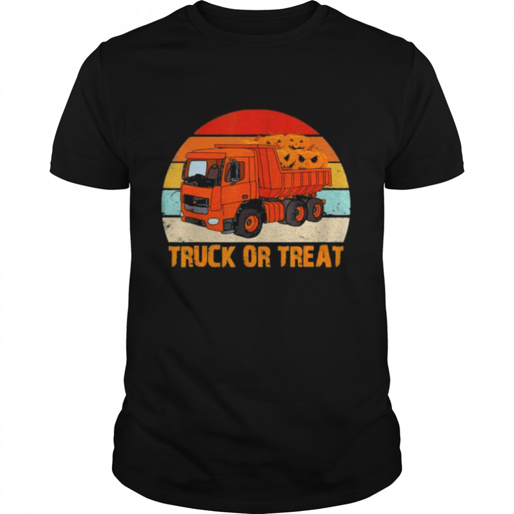 Truck Or Treat Funny Trucker Kids Or Adults Halloween Shirt