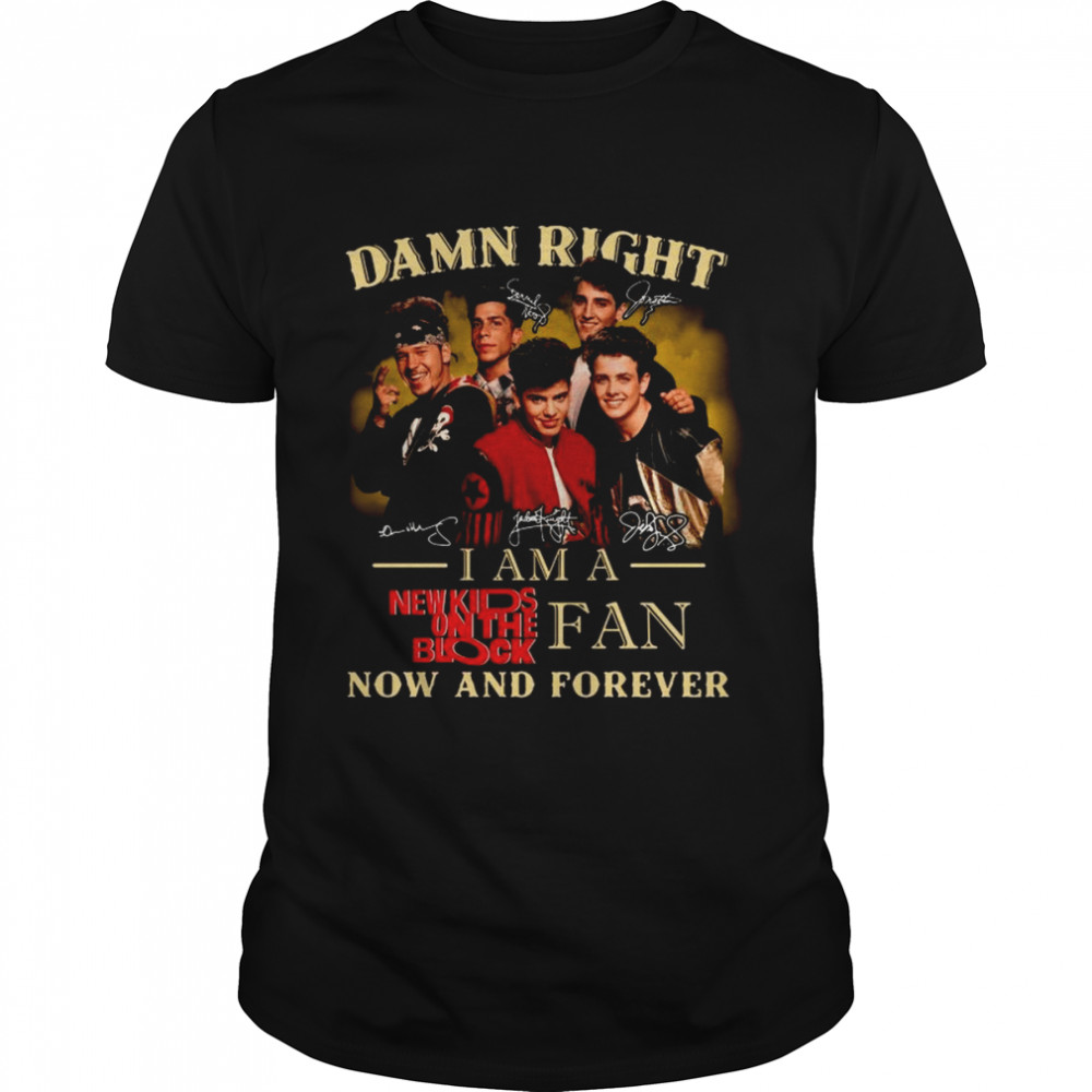 Damn Right I Am A New Kids On The Block Fan Now And Forever Signatures Shirt