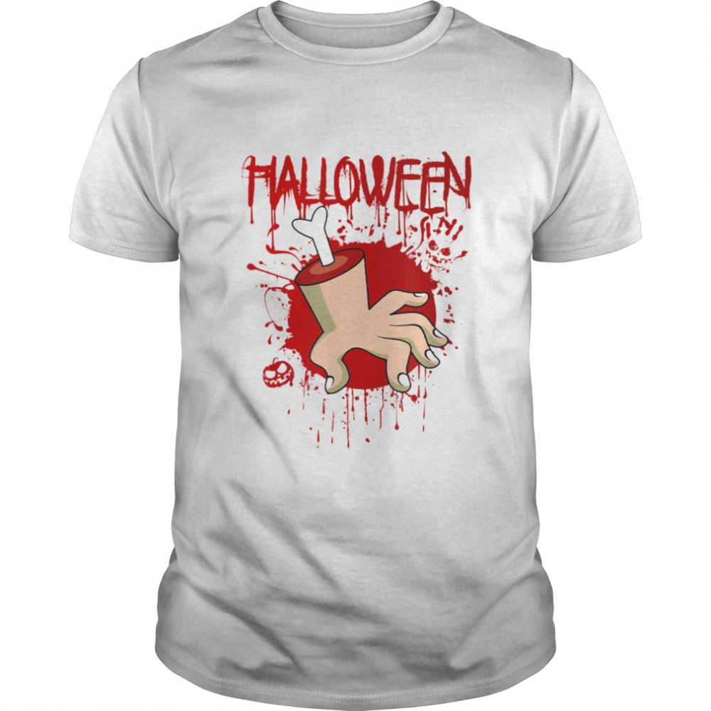 Halloween Chopped Body Hand With Blood Splashes Shirt