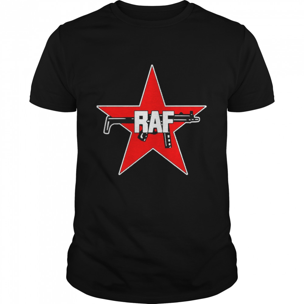 Raf Red Army Faction Red Star And Gun Shirt