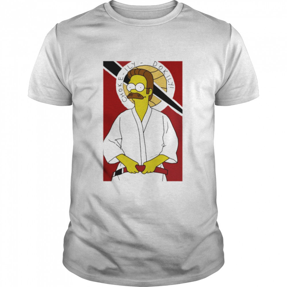 The Simpsons Ned Flanders Okily Dokily Shirt