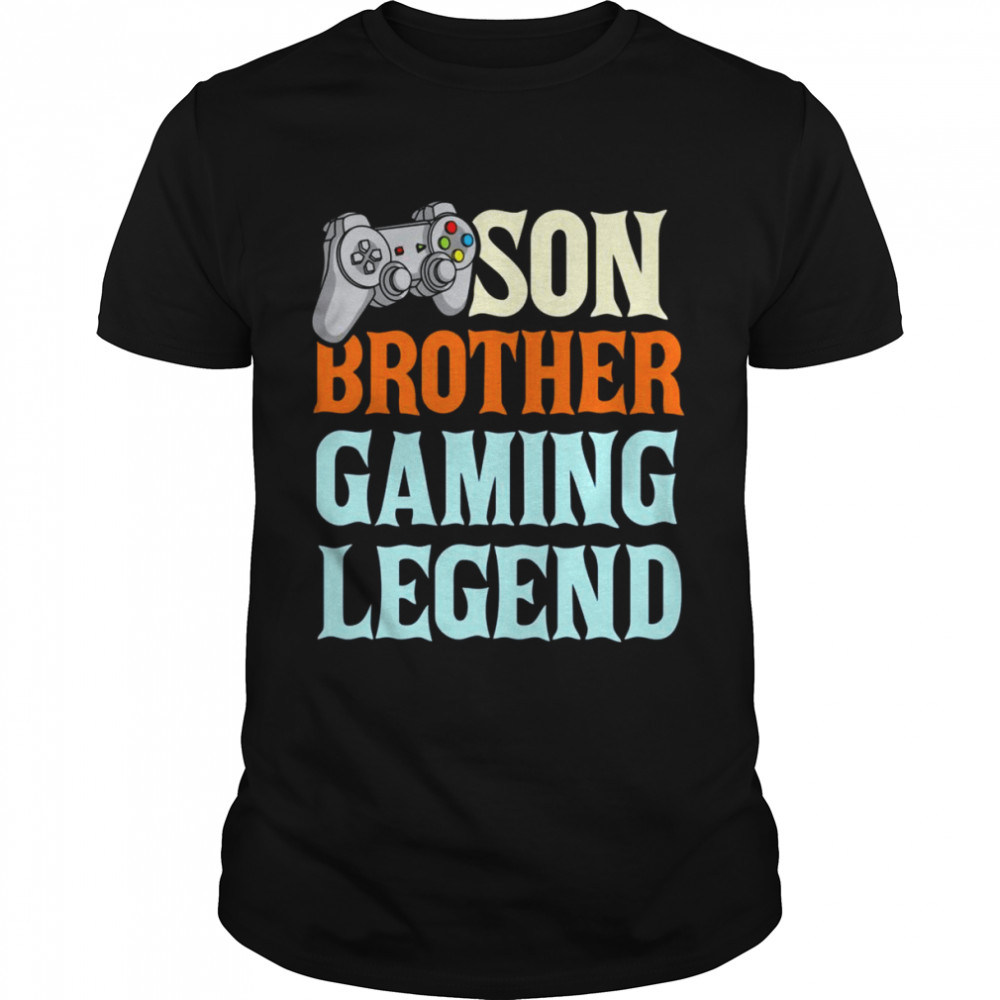 Son Brother Gaming Legend Gamer Partners Shirt