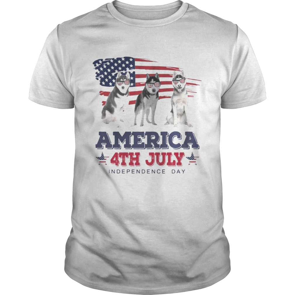 Cool Husky America 4Th July Independence Day Shirt