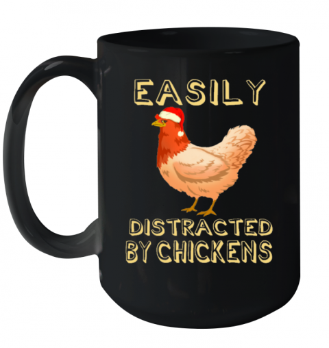 Easily Distracted By Chickens Animals Mug